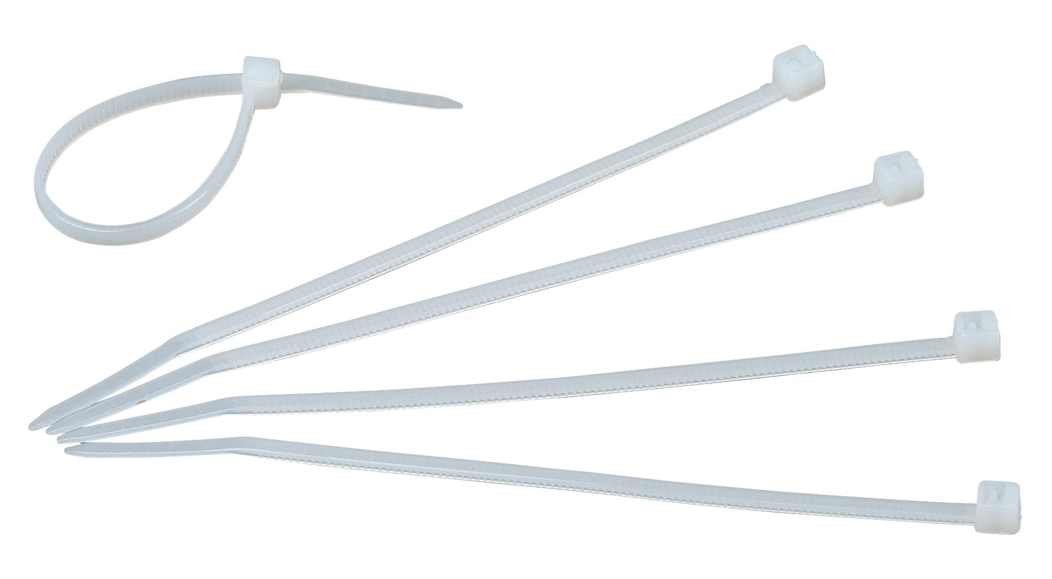 Kabelbinder 150mm x 3.6mm, transparent, 100 Stück | Allgemeines ...